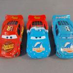 Lightning McQueen (L) - Transforming Lightning McQueen (M) - Dinoco McQueen (L)