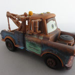 Mater 0247EA  - 88 gr - Metal engine, one piece cab and cargo bed, raised eyebrow, brown wheels (V1)