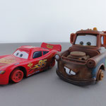 Lightning McQueen en Mater with NO tires