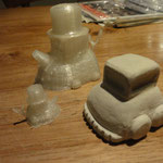 3D print vs. DAS Modelling material version