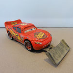 Lightning McQueen with shovel