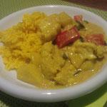 Blumenkohl-Curry mit Safran-Reis