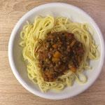 Spaghetti mit Puy-Linsen-Bolognese
