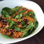Sommersalat mit roten Linsen