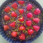 Schoko-Tarte mit Erdbeeren