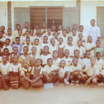 Mr. Seidu with a school class