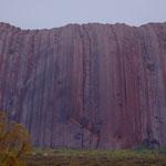 Uluru in rain