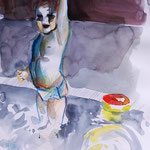 Boy in pool 05/20 30X30CM