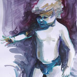 Kid playing 05/20 30X40CM