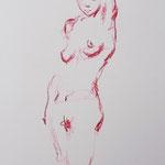 Nude, red pencil