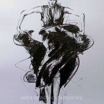 """Girl, sketch for """"GOLD"""", 37 x 27 cm, monolith pencil on paper (sold)"""