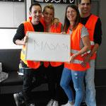 """Das Team """"MASA 51"""" bestand aus echten Escape Room Kennern. Zwei von ihnen betreiben seit kurzem selber ein Escape Game in Dietikon (Mission Escape). Vielen Dank für euren Besuch, wir freuen uns schon auf unsere Mission bei euch! :-)"""