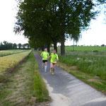 Auch Radwege wurden genutzt