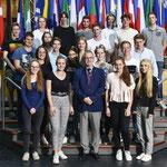 Besuch der Martin-Niemöller-Schule aus Wiesbaden am 11. Juni.