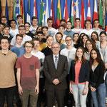 Besuch der Leibnizschule Wiesbaden am 17. April.