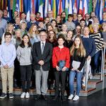 Besuch einer Gruppe des Pulse of Europe Darmstadt am 24. Oktober.