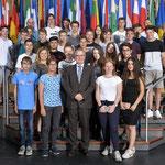 Besuch von Schülern der Freiherr-vom-Stein Schule am 4. Juli.