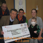 Spendenübergabe Förderkreis für krebskranke Kinder Kiel 2011