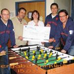 Spendenübergabe Uni-Klinik Kiel 2008