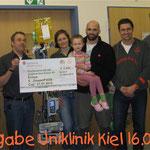 Spendenübergabe Uni-Klinik Kiel 2012