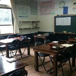旧教室は、そのまま活用