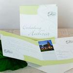 Hochzeitseinladung - Quadratisch 4-seitig