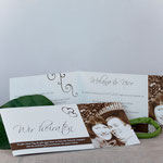 Hochzeitseinladung - DIN Lang mit hervorstehendem Bild