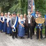 Teilnahme an der Fahnenweihe in Trostberg