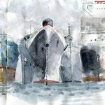 Esquisse des bateaux