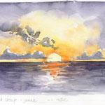 Esquisse de l'océan au coucher du soleil