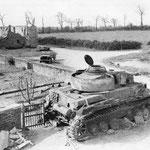 Abgeschossener Panzer IV der Panzer-Lehr-Divison westlich der Vire