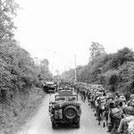 US-Truppen auf dem Marsch zur Front