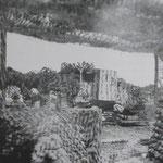 Getarntes 17 cm Geschütz der MKB Yorck