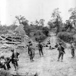 Infanterie des 116th IR auf der Martinville Hügelkette