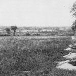 Schützenlöcher auf dem Martinville Höhenzug