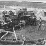 Eisenbahnggeschütz der H.K.B. E.685 - 3./1262 Auderville Laye
