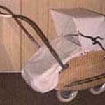 Korb Kinderwagen, WISA Gloria, 50er Jahre, mit Schlupfsack, Preis Sfr. 1300.-