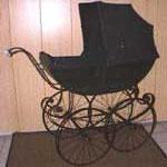 Kinderwagen Frankreich, ca. 1910, schwarz, Preis Sfr. 1600.-