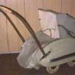 Blech Kinderwagen, Royal Eka, 50er Jahre, unrestauriert, Preis Sfr. 500.-