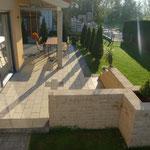 Projekt: Terrassenanlage mit Mauer