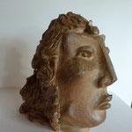"""""""Figure des îles"""" Sculpture grès noir cuisson four à bois Noborigama de """"Caco et Sylvie"""" -Juan José Ruiz Artiste/Auteur Sculpteur céramiste dit """"Caco""""-"""