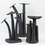 """Variations sur """"Vases-Bouquets""""  céramique haute température de Sylvie Ruiz Foucher 2019"""