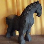 """""""Jument Samara"""" Sculpture grès Samara cuisson Noborigama H27cm/L28cm -Juan José Ruiz dit """"Caco"""" Artiste Auteur/Sculpteur- 950€"""