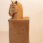 """""""Colonne Zoomorphe"""" Sculpture grès cuisson four à bois Noborigama de """"Caco et Sylvie"""" -Juan José Ruiz dit """"Caco"""" -"""