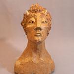 """Caco et le personnage ...""""Faune"""" Sculpture grès noir cuisson four à bois Noborigama de """"Caco et Sylvie"""" -Juan José Ruiz dit """"Caco""""-"""