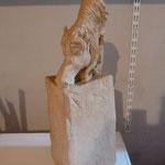 """"""" Cheval à la prairie """" Sculpture Terre d'expression  cuisson Noborigama H46cm Pièce Unique -Juan José Ruiz dit """"Caco"""" Artiste Auteur/Sculpteur- 750€"""