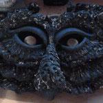 """""""Masque"""" Sculpture grès Samara cuisson Noborigama H28cm/L38cm Pièce Unique-Juan José Ruiz dit """"Caco"""" Artiste Auteur/Sculpteur"""