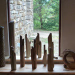 Variations sur Vases bouquets grès cuisson bois - Sylvie Ruiz Foucher-