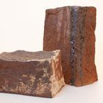 """Colonnes de matières ...grès et terres d'expression haute température cuisson four à bois Noborigama de """"Caco et Sylvie"""" -Juan José Ruiz dit """"Caco""""-2018"""