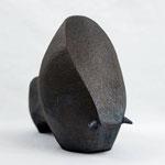 """"""" Big one"""" Sculpture African Stone  cuisson Noborigama H19cm/L25cm Pièce Unique -Juan José Ruiz dit """"Caco"""" Artiste Auteur/Sculpteur- 750€"""